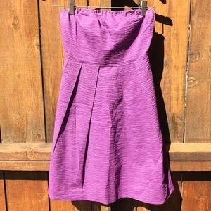 J CREW Strapless Petite Lilac Dress w/ Zip Closure